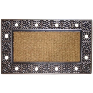 First Impression Rubber and Coir Decorative Tray Doormat