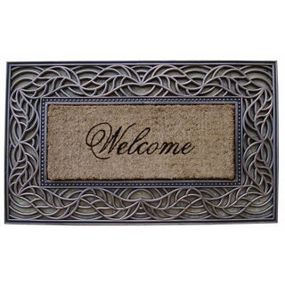 First Impression 'Welcome' Rubber and Coir Decorative Doormat
