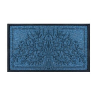 Tree' Design Molded Polypropylene Doormat (1'6 x 2'6)