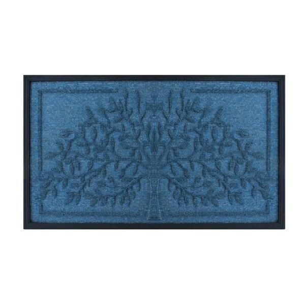 Tree' Design Molded Polypropylene Doormat (1'6 x 2'6)