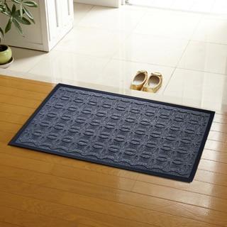 Grey Geometric Pattern Polypropyelene Doormat