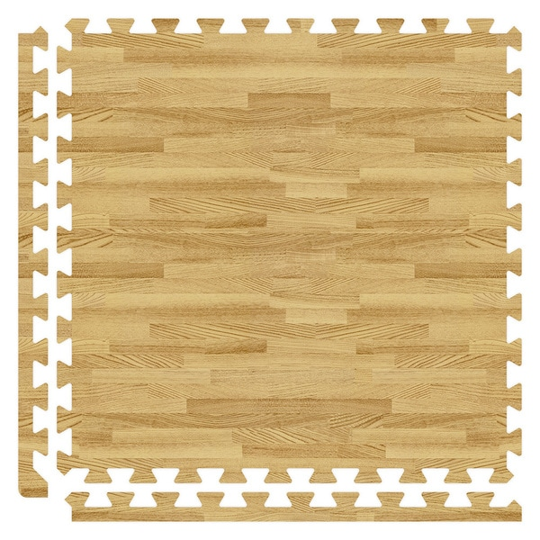 Light Oak Finish SoftWoods Floor Tile Set