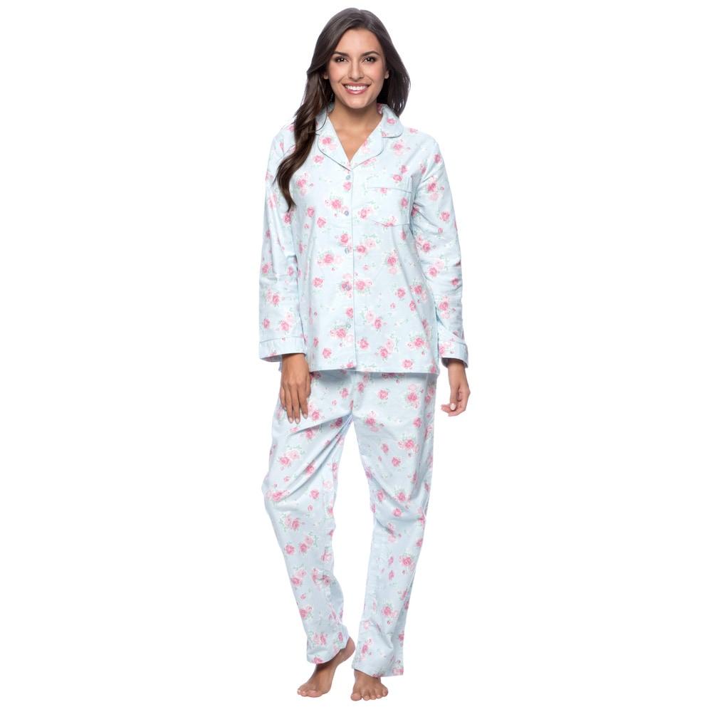 La Cera Womens Floral Print Pajama Set