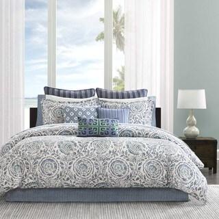 Echo Design Kamala Blue Cotton Comforter Set