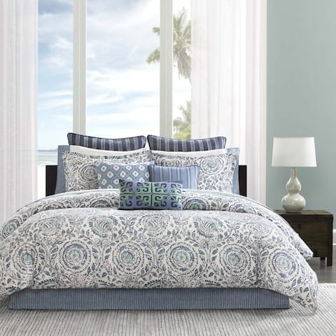 Echo Design Kamala Blue Cotton Comforter Set