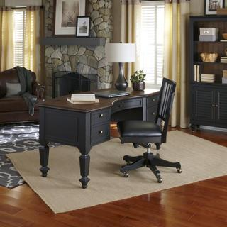 Grandview 66-inch Half Pedestal Desk with Chair
