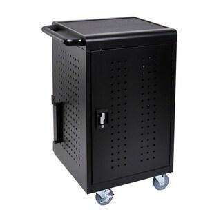 Offex LLTM30-B Black 30-tablet Computer Charging Cart