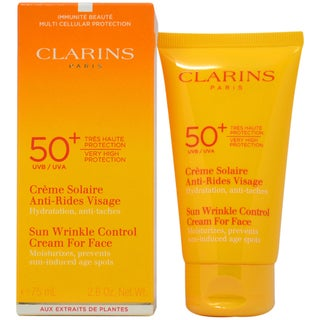 Clarins Sun Wrinkle Control Cream Very High Protection For Face UVB/UVA 50+ 2.6-ounce Kit