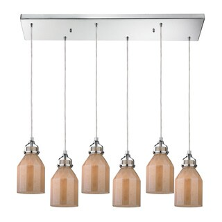 Elk Lighting Danica 6-light Polished Chrome Chandelier