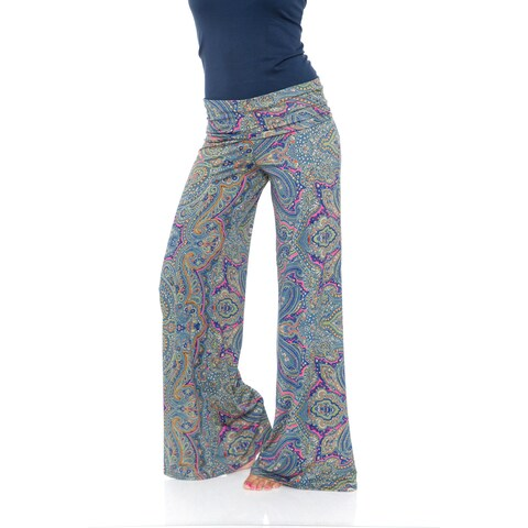 White Mark Women's Paisley Heaven Palazzo Pants