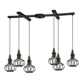 Elk Lighting 'Yardley' 6-light Caged Chandelier
