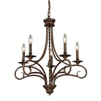 Elk Lighting Gloucester Antique Bronze 5-light Chandelier