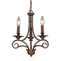 Elk Lighting Gloucester 3-light Antique Bronze Chandelier