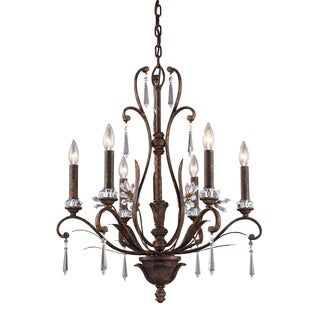 Elk Lighting Emilion 6-light Burnt Bronze Chandelier