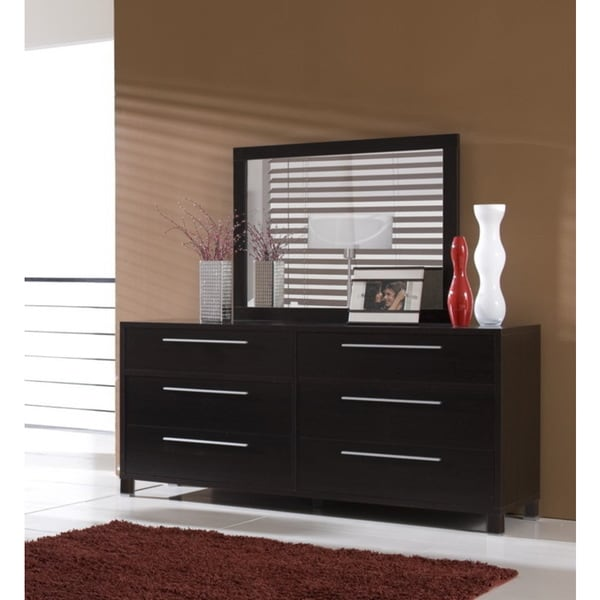 Emma 6-drawer Coffee Dresser and Mirror Set