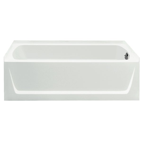 Shop Ensemble 5-foot White Left Drain Bathtub - Free Shipping Today ...