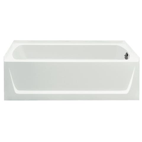 Ensemble 5-foot White Left Drain Bathtub