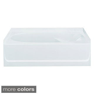 Ensemble 5-foot White Left Drain Bathtub