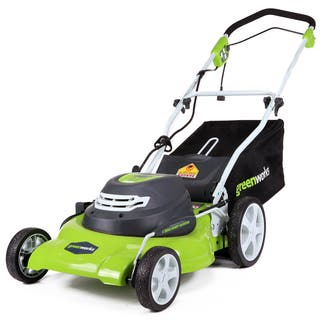 GreenWorks 12-amp Corded 20-inch Lawn Mower|https://ak1.ostkcdn.com/images/products/9517942/P16696168.jpg?impolicy=medium