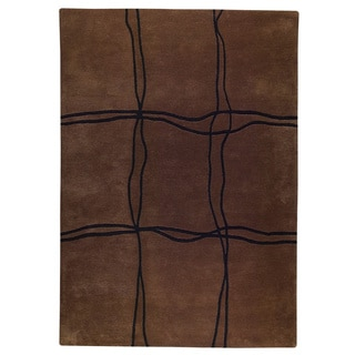 M.A.Trading Hand Tufted Amsterdam Brown (5'6 x 7'10) Rug (India)