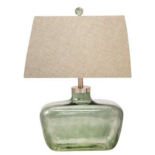 Abbey Glass Bottle 28-inch Fillable Table Lamp