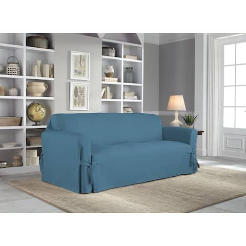 Tailor Fit Relaxed Cotton Duck Sofa Slipcover