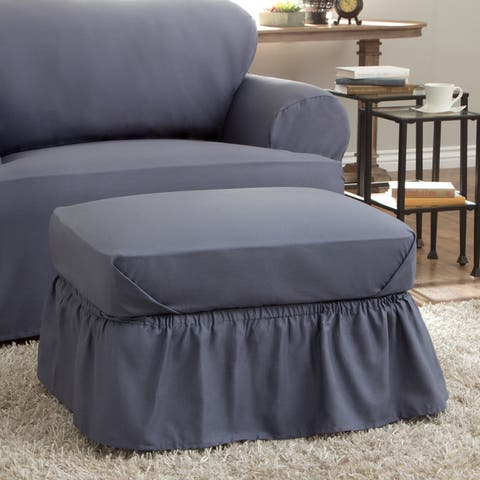 Tailored Solutions Relaxed Fit Cotton Duck Ottoman Slipcover
