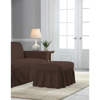 Tailor Fit Relaxed Fit Cotton Duck Ottoman Slipcover