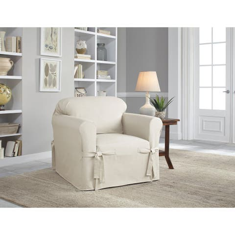 Tailored Solutions Relaxed Fit Cotton Duck Cushion Chair Slipcover