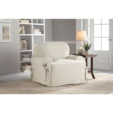 Tailor Fit Relaxed Cotton Duck T Cushion Chair Slipcover