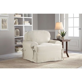 Tailor Fit Relaxed Fit Cotton Duck T-cushion Chair Slipcover (4 options available)