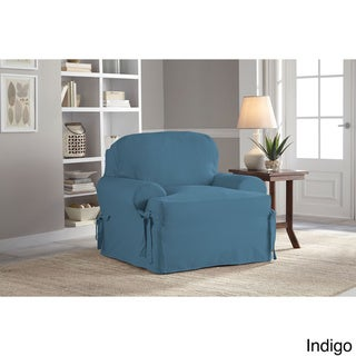 Tailor Fit Relaxed Fit Cotton Duck T-cushion Chair Slipcover