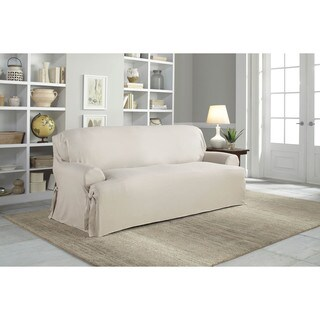 Tailor Fit Relaxed Fit Cotton Duck Canvas T-cushion Sofa Slipcover