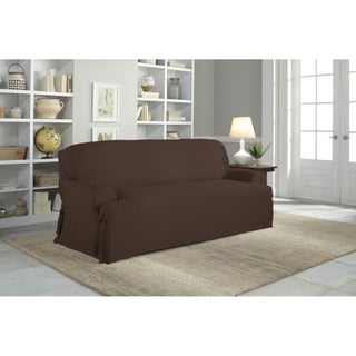 Tailor Fit Relaxed Fit Cotton Duck T-cushion Sofa Slipcover (3 options available)