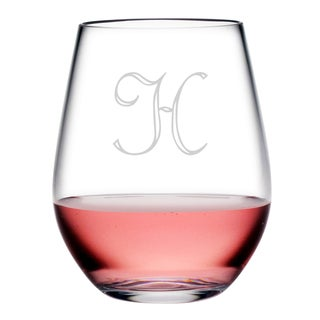 Personalized Acrylic Stemless Wine Glasses (Set of 4)