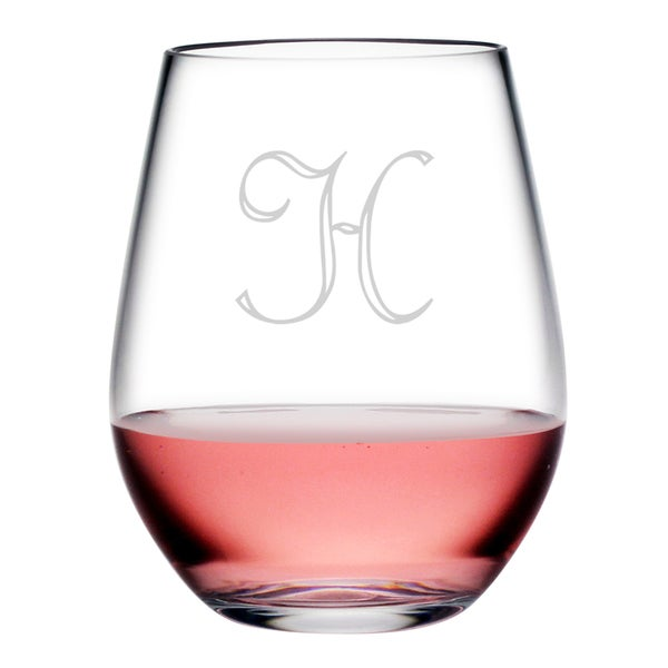 Personalized Acrylic Stemless Wine Glass Set Of 4 Free