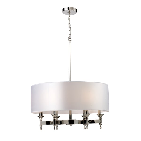 Elk Lighting Pembroke 6-light Polished Nickel Chandelier