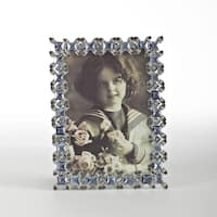 Sapphire Rhinestone Jeweled Photo Frame