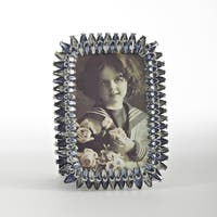 Sapphire Jeweled Rounded Photo Frame