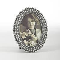 Oval Jeweled Photo Frame