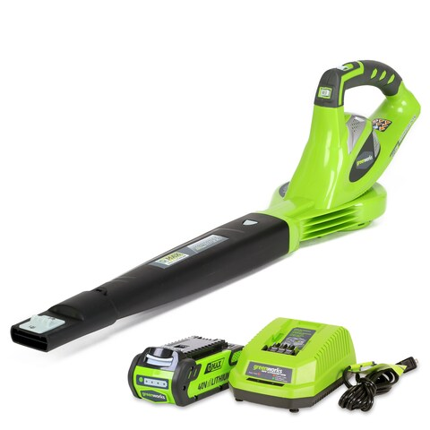 GreenWorks G-MAX 40V 150MPH Cordless Sweeper with 2AH Battery and Charger