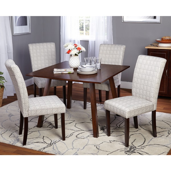 Simple living 5 piece laurel dining room set free for Living room 5 piece sets