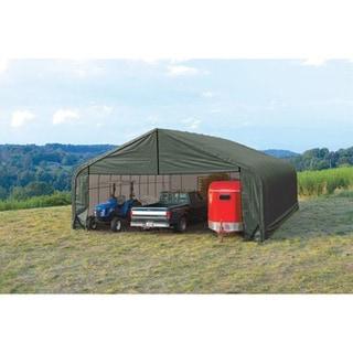 Shelterlogic Outdoor Garage Automotive Boat Car Peak Style Storage Green Shed