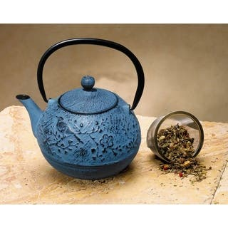 Cast Iron Suzume 24-ounce Teapot|https://ak1.ostkcdn.com/images/products/9518071/P16696266.jpg?impolicy=medium