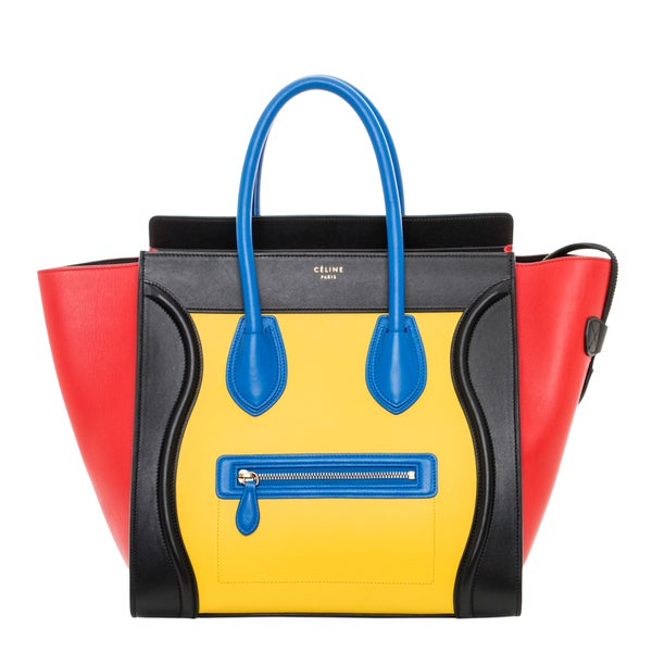 Celine Multicolored Smooth Leather Luggage Tote