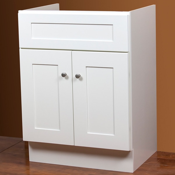 Shop Linen White Bath Vanity Base 30 inches x 21 inches ...
