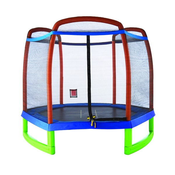 Pure Fun 7-foot Kids Trampoline With Enclosure And Tic-Tac
