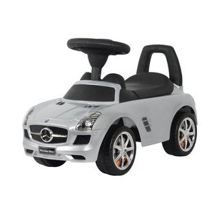 Best Ride On Cars Silver Mercedes SLS AMG Push Car