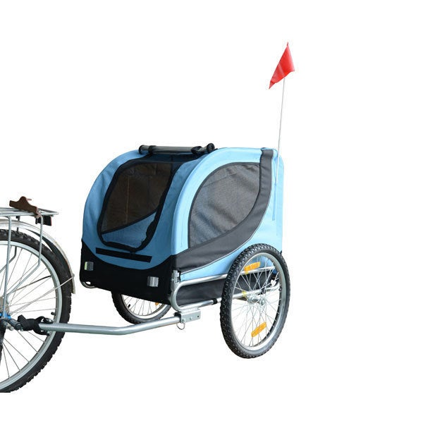 Merske Comfy Pet Blue/ Black Bike Trailer, Blue/Black