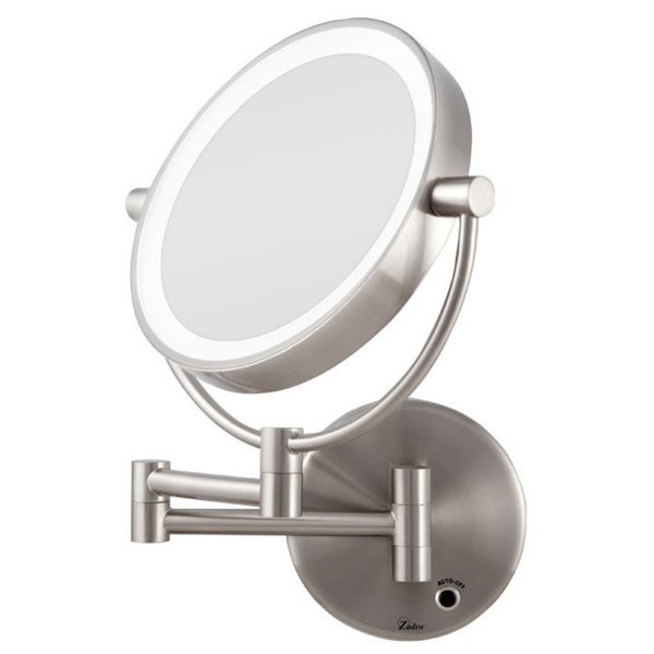 Zadro 5x 1x Cordless Led Lighted Wall Mount Mirror Free